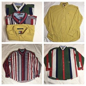 Vintage 90's Tommy Hilfiger Button Down Bundle of3